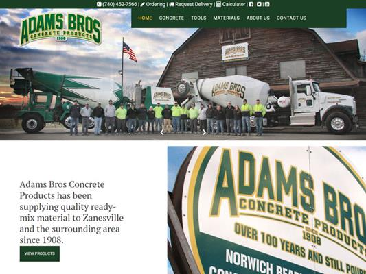 Adams Bros Concrete Zanesville Ohio iTrack llc
