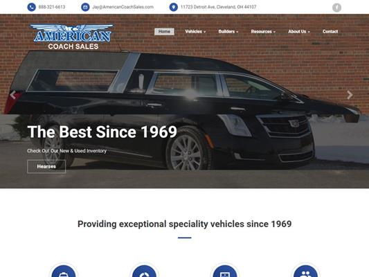 American Coach Sales Cleveland Columbus Hearse Limousine Dealer iTrack llc
