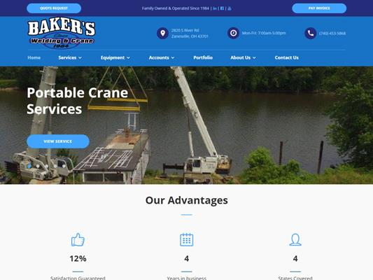 Bakers Welding Crane iTrack llc
