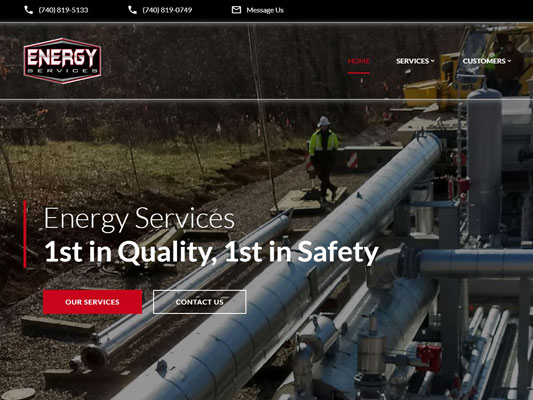 Energy Services Oil Gas Well Lines Compressor Stations iTrack.JPG