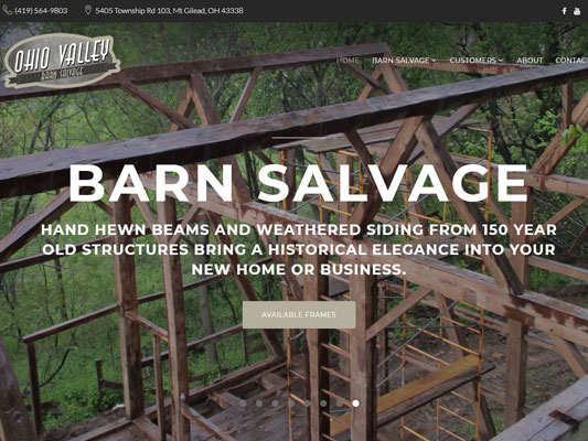 Ohio Valley Barn Salvage Reclaimed Barns Wood Specialists Frames Structure iTrack.JPG
