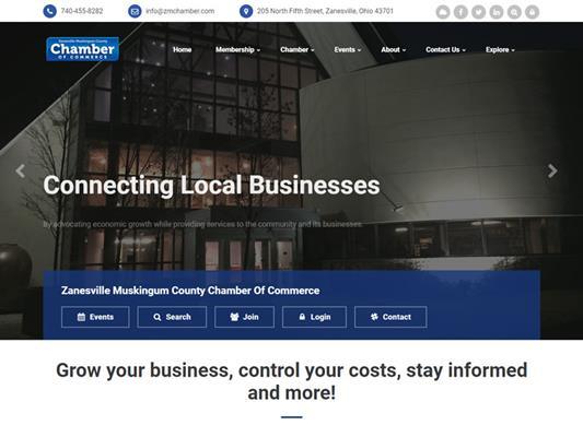 Zanesville Muskingum Chamber Of Commerce iTrack Website Development